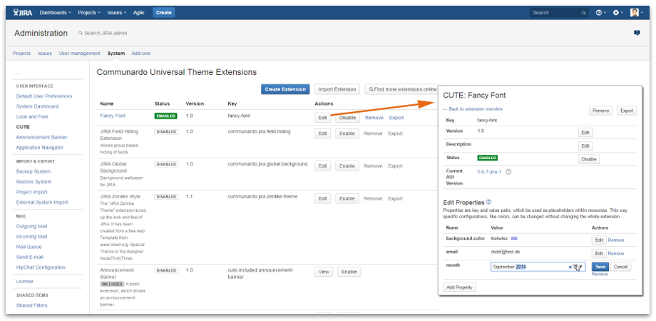 Edit Theme Extension - CUTE for Jira