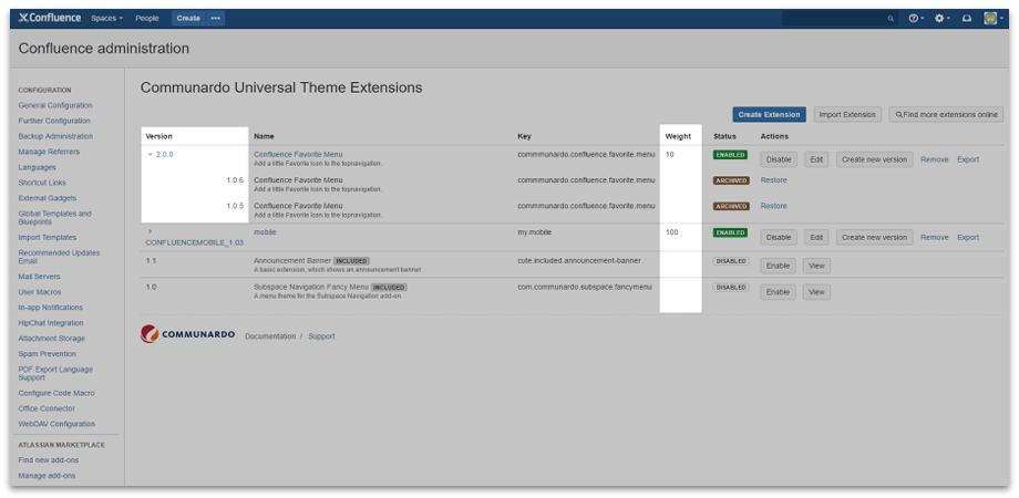 Versioning of CUTE Extensions Makes Life So Much Easier as a Confluence Administrator - CUTE for Confluence