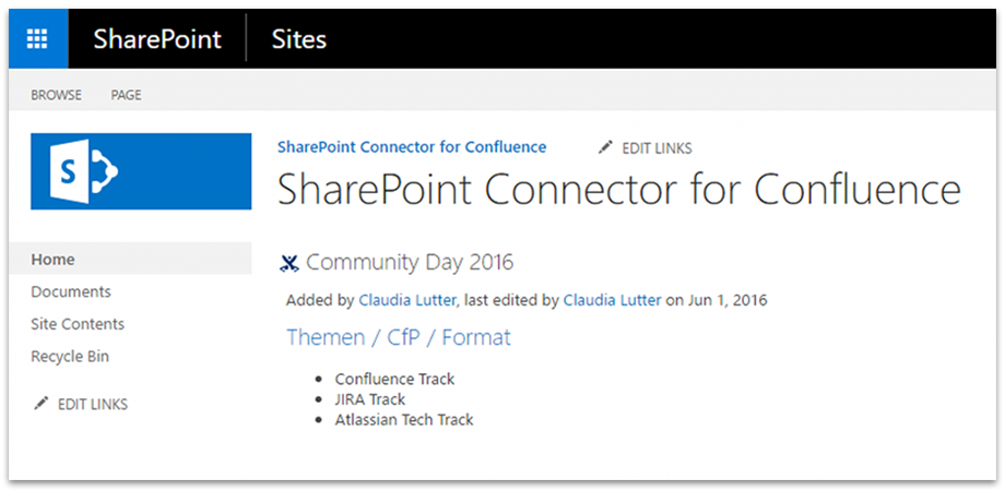 Easily embed SharePoint content in Confluence and vice versa.