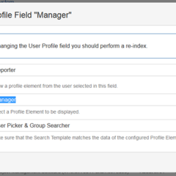 "Configure User Profile Field ""Manager"""