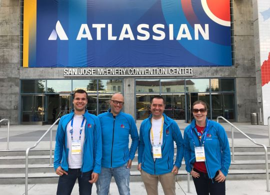 Our team at Atlassian Summit 2017