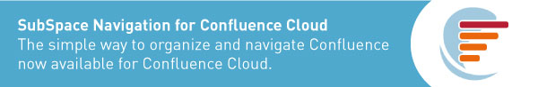 SubSpace Navigation for Confluence Cloud Banner