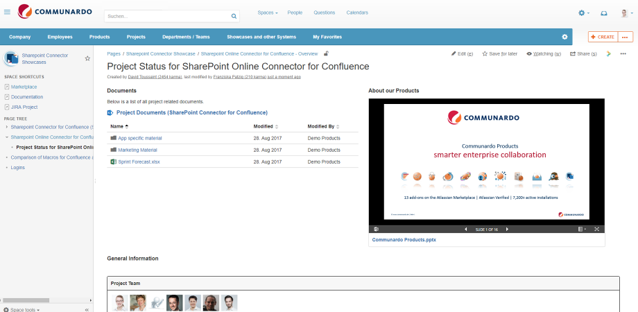 Easily Embed documents stored in SharePoint into Confluence