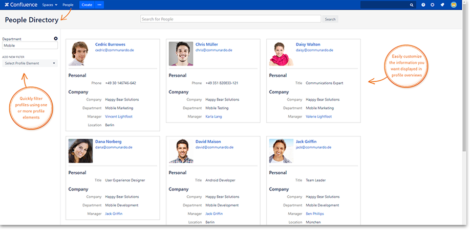 People Directory - User Profiles for Confluence