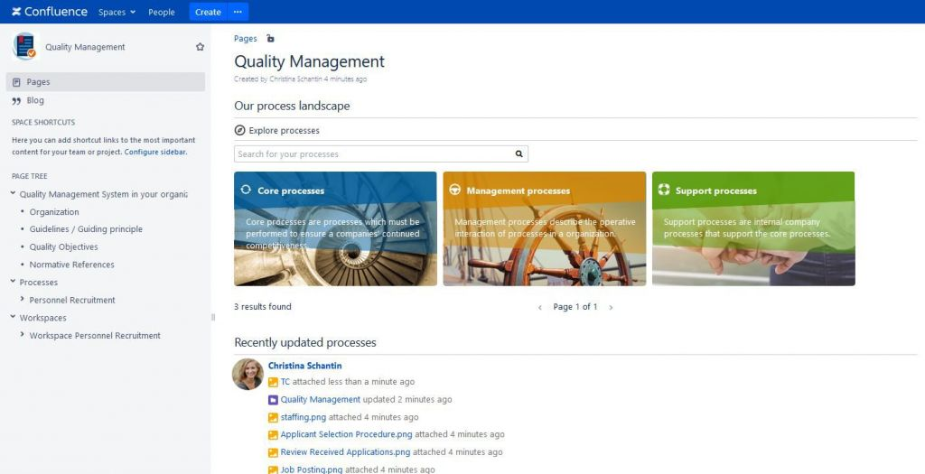 Process Management Suite for Confluence Dashboard