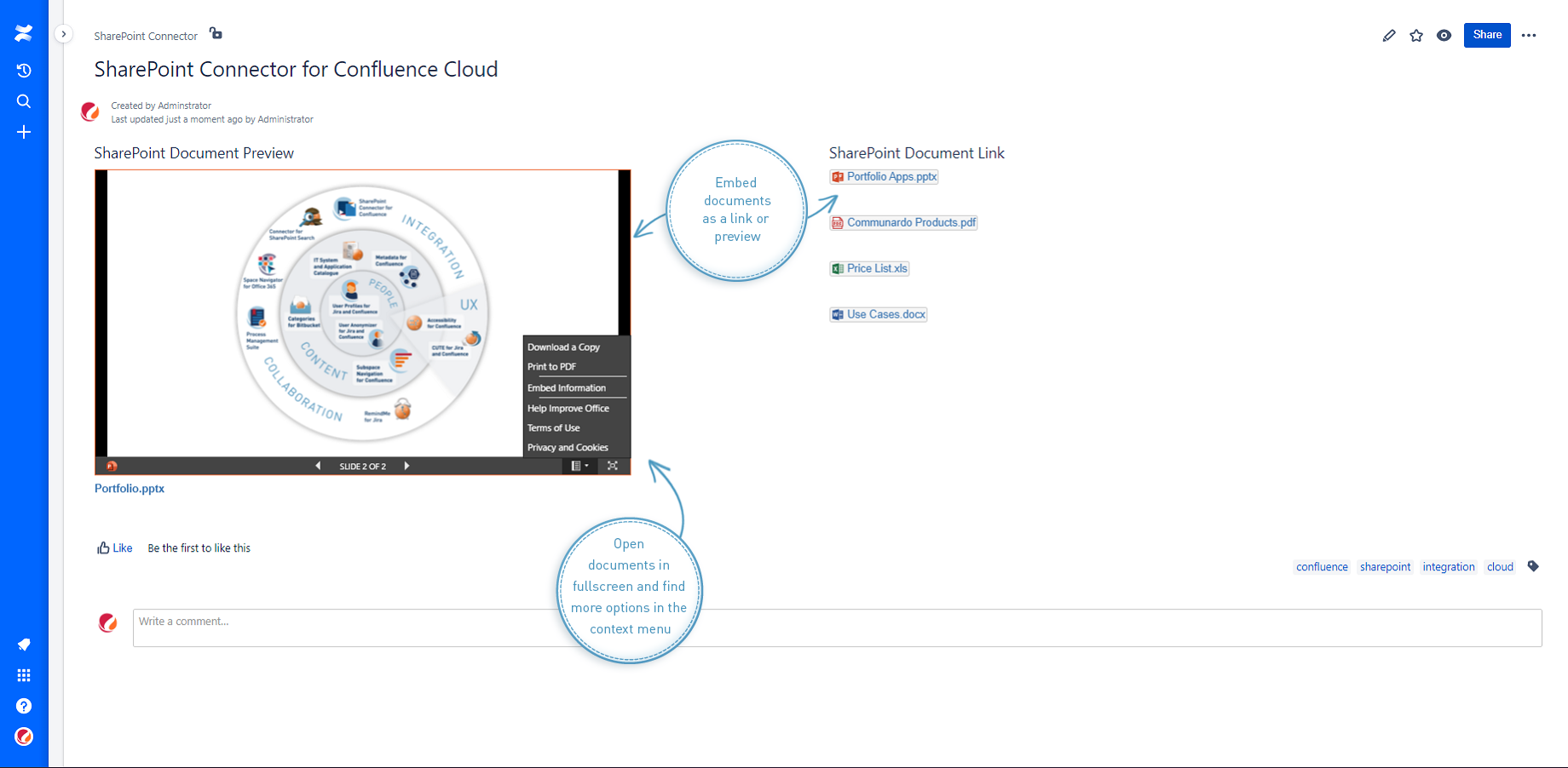 SharePoint Documents Displayed in Confluence Cloud