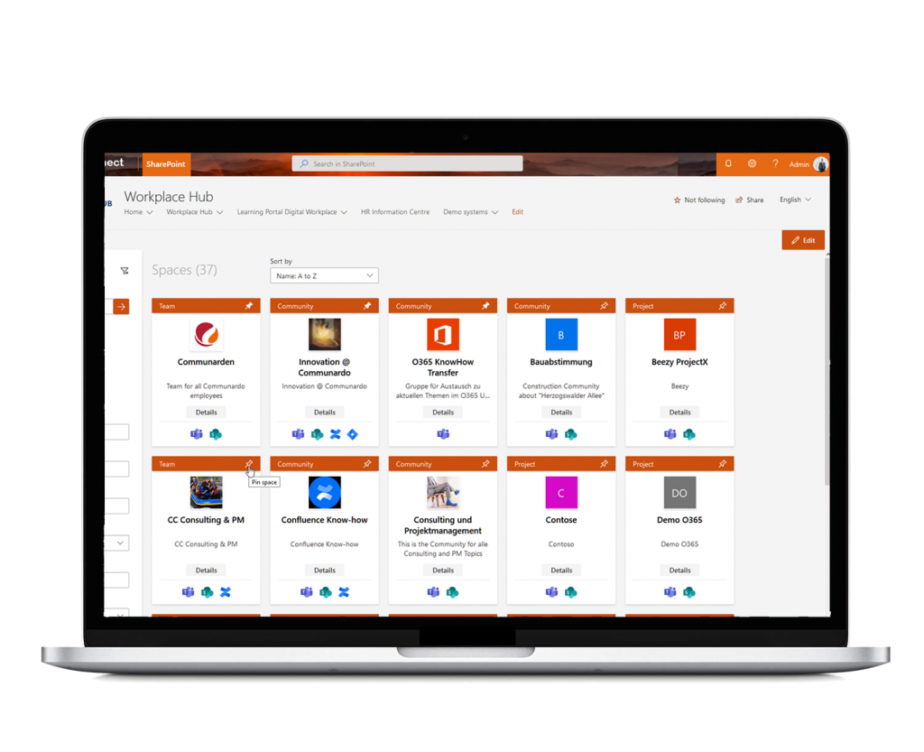 Pin your favorite spaces with Space Navigator for Office 365