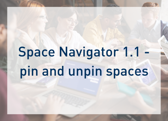 Space Navigator 1.1 - pin and unpin spaces - blog