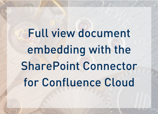 SharePoint Connector Cloud - Blogpost