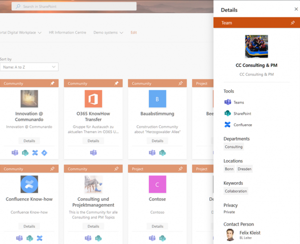 Integrate access to SharePoint, Teams, Confluence, Jira and more systems right in one single workspace