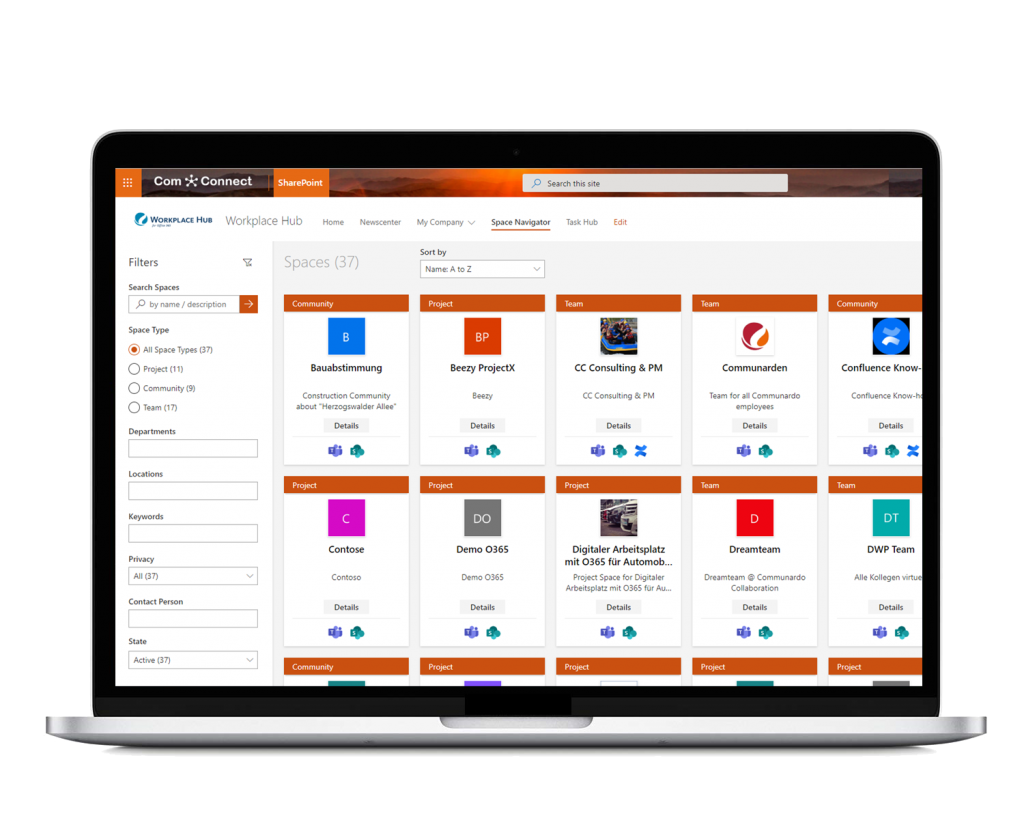 Access all your projects, communities, and teams from a single workspace