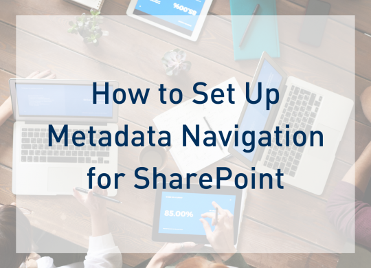 Metadata Navigation SharePoint Preview