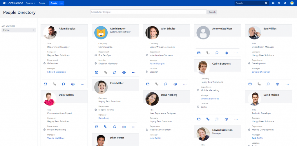 Masonry layout for profile cards on your People Directory