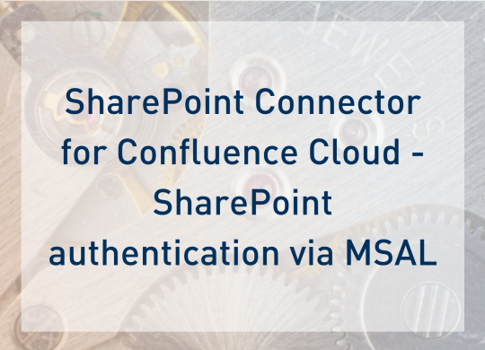SharePoint Connector Cloud - Authentication - Blogpost