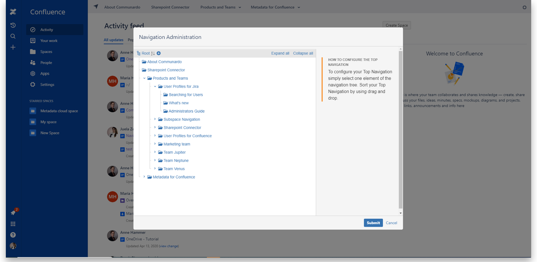 Get powerful personalization options with SubSpace Navigation for Confluence